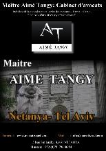 Maitre AIME TANGY, Avocat en ISRAEL -  Netanya et Tel Aviv